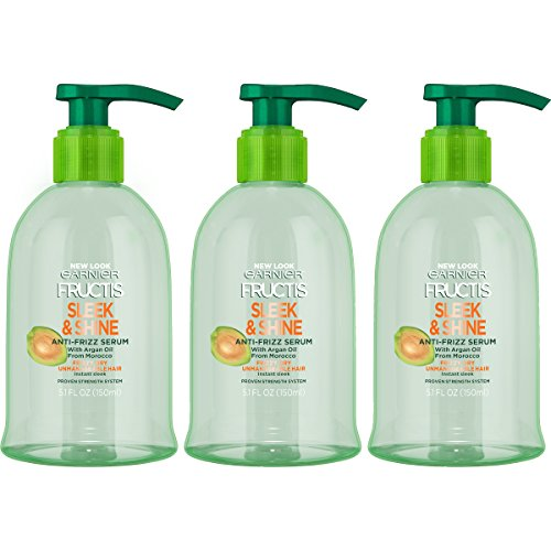 Garnier Hair Care Fructis Sleek & Shine Anti-Frizz Serum, 3 Count