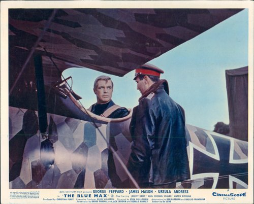 The Blue Max George Peppard in Fokker D.VII with Karl Michael Vogler lobby card