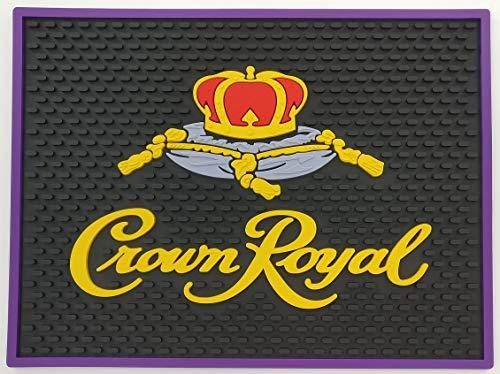 Crown Royal Black Professional Spill Mat Wait Station Drip Mat 12x9 Coaster]()