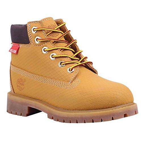 Timberland 6-Inch Premium Scuff Rebar Boot (Toddler/Little Kid/Big Kid),Wheat,5.5 M US Big Kid