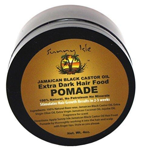 Sunny Isle Extra Dark Jamaican Black Castor Oil Hair Food Pomade 4oz (Sunny Isle Jamaican Black Castor Oil Hair Growth)