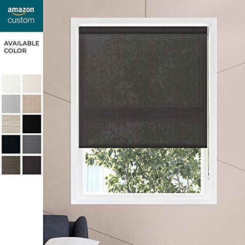 CHICOLOGY Custom-Made Corded Roller Shades, No Valance, Gaza Cayenne (Premium 5% Open Solar). 46'' W X 72'' H by CHICOLOGY