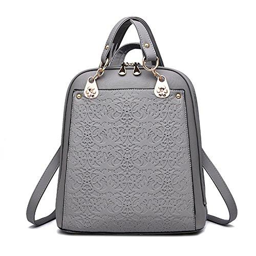 ANNE - Bolso mochila  para mujer gris gris gris