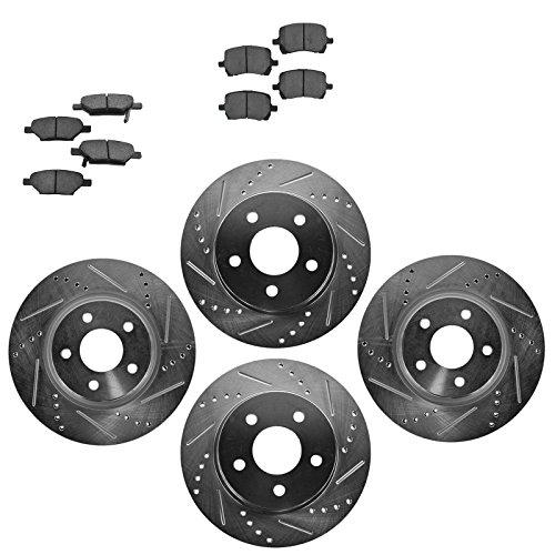 Front And Rear Ceramic Brake Pads For Chevy Cobalt Malibu Pontiac G6 Aura