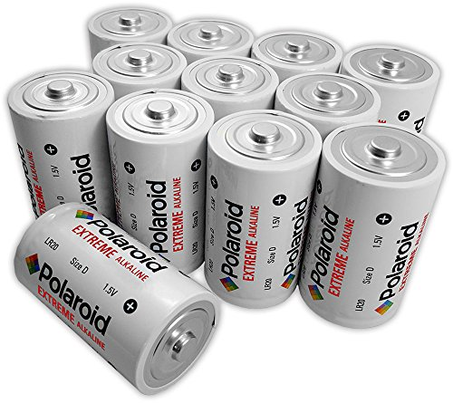 Polaroid D Extreme Alkaline Batteries (12 Pack)