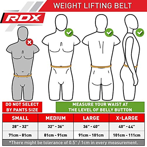 RDX Powerlifting Belt Lever Buckle Cow Hide Leather 10mm Single Prong Weight Lifting Workout Gym Fitness Exercise Bodybuilding by RDX (Image #2)
