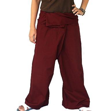 Maroon Thai Fisherman Yoga Pants Lululemon Pants Trousers Free Size Soft Cotton