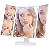 Best Makeup Mirrors - Lighted Makeup Mirror, EECOO 21 Led Lights Trifold Review