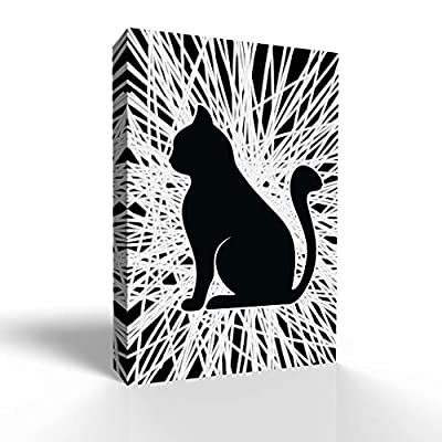 Incredible Object of Art, Abstract Line with Animal Painting for Bedroom Living Room, With a Professional Touch