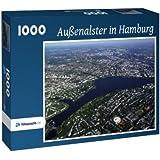 Außenalster in Hamburg - Puzzle 1000 Teile mit Bild von oben