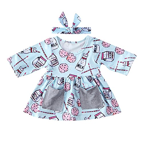 GoodLock Baby Girls Fashion Clothes Set Newborn Infant Milk