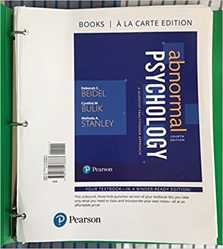 Amazon abnormal psychology a scientist practitioner approach abnormal psychology a scientist practitioner approach books a la carte edition 4th edition 4th edition fandeluxe Choice Image
