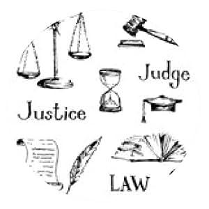 alfombrilla de ratón Conjunto de justicia o de derecho símbolos. Ilustración del vector. - ronda - 20cm