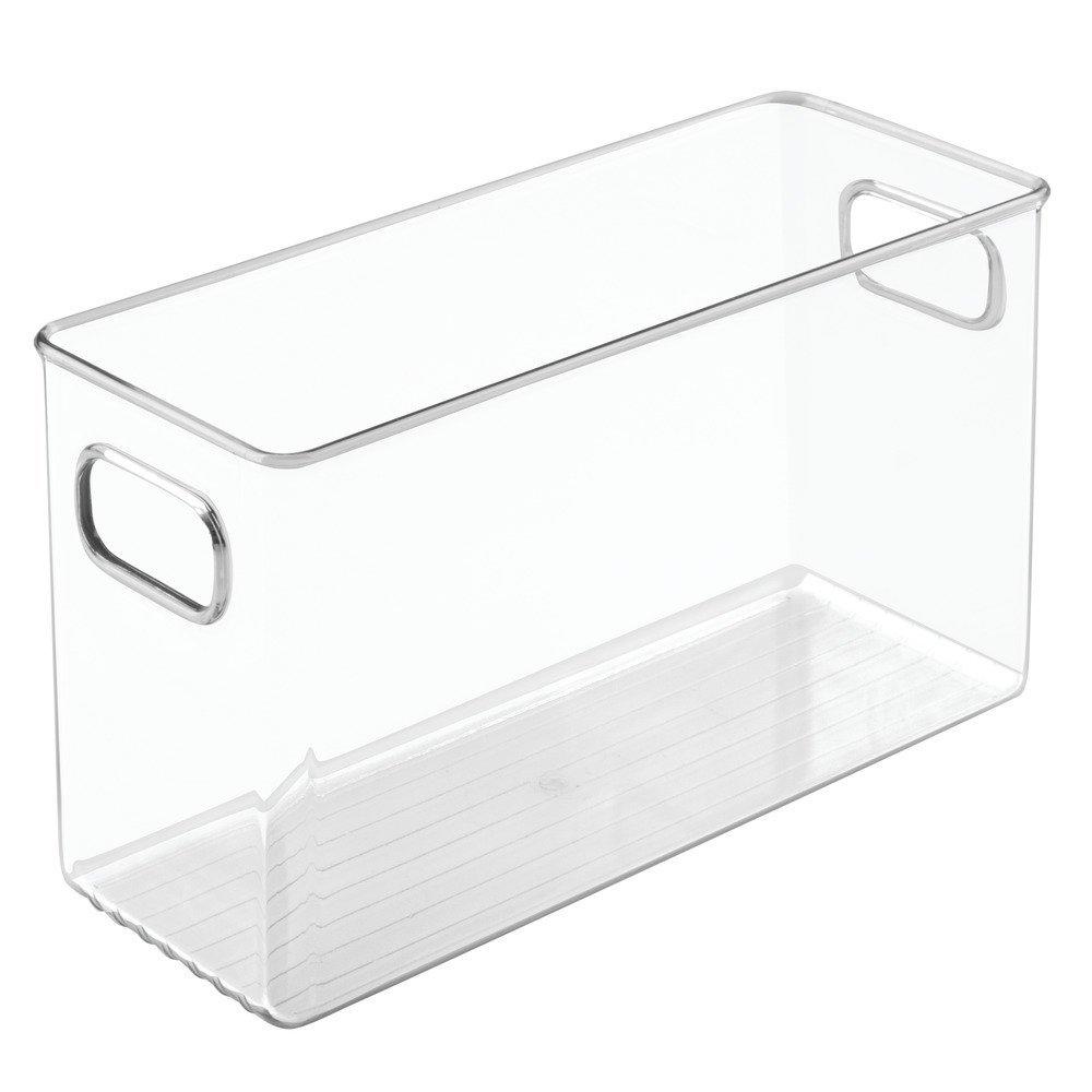 InterDesign Linus Bathroom Vanity Organizer Bin – Cabinet Storage Box for Health and Beauty Products - Medium, Clear 69330