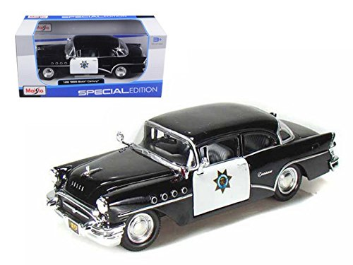 Buick Century, California Highway Patrol (1:26), 1955, Model Car, Ready-made, Maisto 1:24 - Buick Century Diecast Model