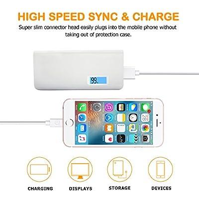 iPhone Charger, Sundix 5 Pack 6ft Lightning Cable iPhone Charging Syncing Cord Charger Cable Compatible iPhone X 8 8Plus 7 7Plus 6S 6Splus 6 6Plus SE 5 5S 5C More