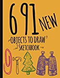691 Objects To Draw Sketchbook: New Drawing Prompts Notebook-journal- ideas for kids