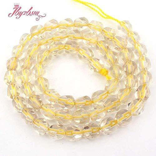(Calvas 6,8,10,12,14mm Faceted Lemon Crystal Quartzs Bead Natural Stone Beads for DIY Necklace Bracelat Jewelry Making 15