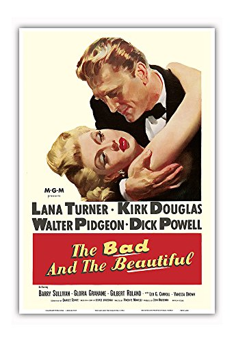 The Bad and the Beautiful - Starring Kirk Douglas and Lana Turner - Vintage Film Movie Poster c.1952 - Master Art Print - 13in x 19in (Lana Turner Poster)