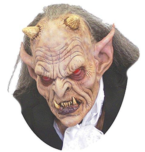[Exodus The Ultimate Devil Demon Scary Latex Adult Halloween Costume Mask] (Latex Devil Mask)