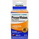 Bausch amp Lomb Preservision with Lutein Eye Vitamin amp Mineral Supplement 50-Count Soft Gels Pack of 6 Discount