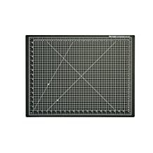 "Dahle 10672 Vantage Self-Healing Cutting Mat,  18"" x 24"",  Black, 5 layer PVC Construction, 1/2"" Grid Lines, Self Healing for Maximum Durability, Perfect for Cropping Photos, Cutting, Sewing, and Crafts"