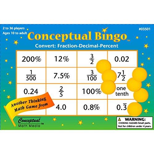 (Conceptual Math Media CMM03501 Bingo, Convert Fraction Decimal Percent (Pack of 450))