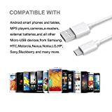 Easylife USB Micro Cable, 3FT Micro USB Cable for Fast Charging A Male to Micro B Charge and Data Sync Cord For Android/Samsung/LG/Motorola/Nokia/ZTE/Windows/PS4/MP3/Camera and other Device-White