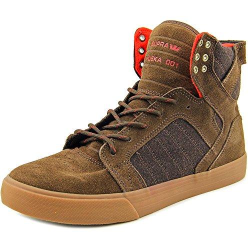 Supra Men's Skytop Brown/Gum Sneaker Men's 11 D - Brown Top High
