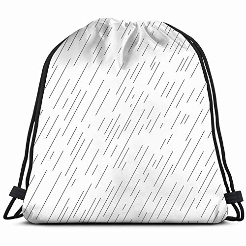 rainy day autumn landscape water drops rain Drawstring Backpack Gym Sack Lightweight Bag Water Resistant Gym Backpack for Women&Men for Sports,Travelling,Hiking,Camping,Shopping -