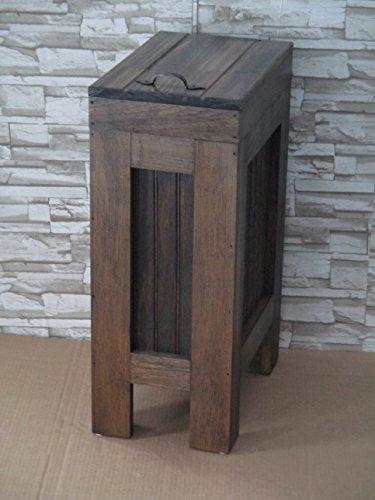 kitchen trash bin wooden - 8