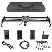 Neewer 31.5 inches/80 centimeters Carbon Fiber Electric Motorized Camera Track Slider Dolly Video Stabilizer for Canon Nikon Sony DSLR Cameras Camcorders Video Photography up to 11 pounds/5 kilograms