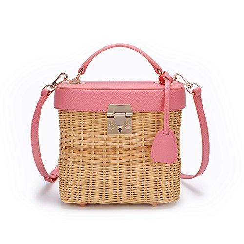 Cross Bag Beach Outdoors Weaving Women Beach Bag Leisure Fashion Body Purse Summer Handbags Shoulder JOSEKO Straw EdnAxwRFqE