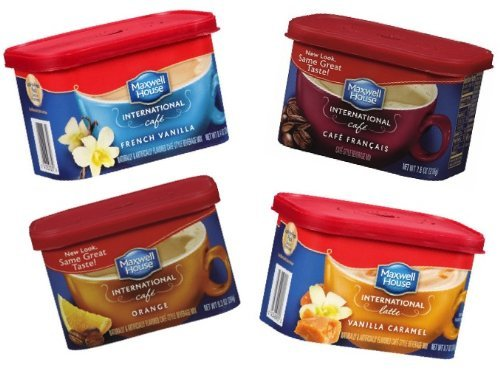 Maxwell House International Cafe Variety Pack (Orange Cafe, Vanilla Caramel, French Vanilla, Cafe Francais)