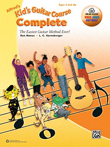 Alfreds Kids Guitar Course Complete: The Easiest Guitar Method Ever!, Book & Online Video/Audio/Software