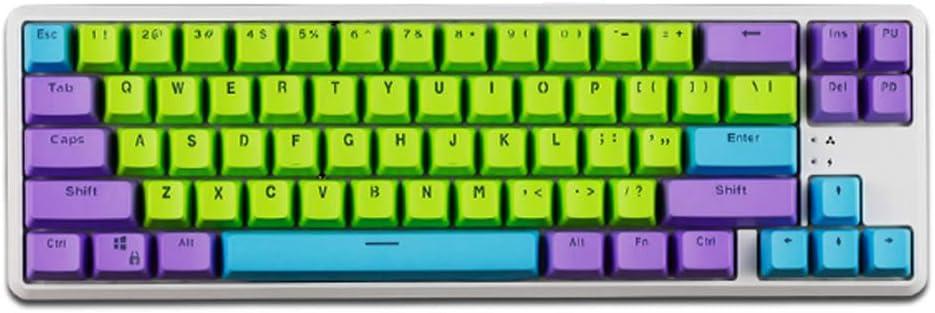 WYIYI PBT Retroiluminación 3 Colores 68-Key Perfil Nombres De ...