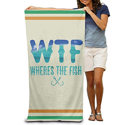 Funny Wheres The Fish Quick-drying Pool Beach Towel Travel