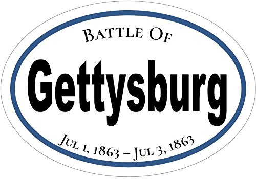 WickedGoodz Oval American Civil War Gettysburg Vinyl Decal Perfect Blue and Grey Gift History Bumper Sticker