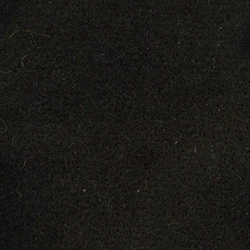Primitive Gatherings Hand Dyed Wool Black Solid 15 inch x 25 inch Cut Piece Moda Fabrics PRI 5000 (Hand Wool Fabric Dyed)