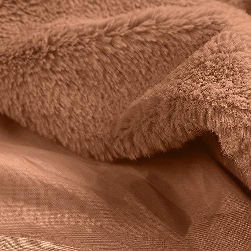 Calidez Cuello Mujer Mujer Chaqueta Abrigo de Abrigos Larga Abrigo de la de para de Pieles Ropa POLP Color Abrigo Largo Sólido Invierno Grande del mujer Caliente Mantenga Flojo Abrigo Manga Upwn1Aq
