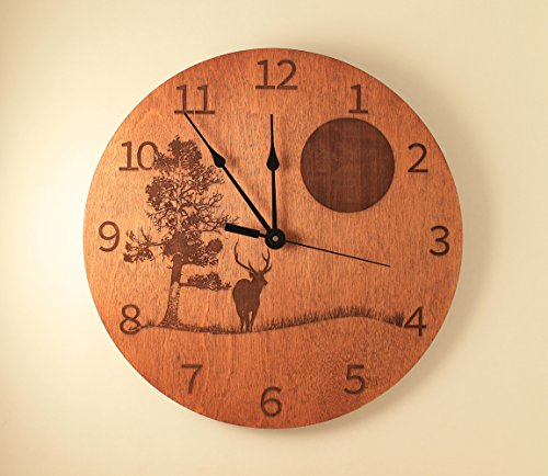 Deer Scene Laser cut Clock