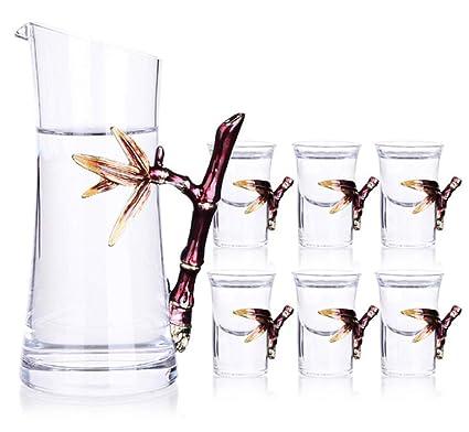 YYCDD Copas de Vino - Blanco Bebidas espirituosas Copas de Vino Estilo Chino Juego de Vino