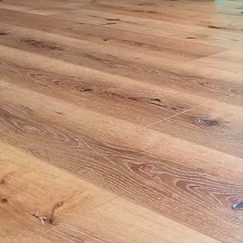 Turtle Bay Floors Waterproof Click WPC Flooring - Wirebrushed European Oak Floating Flooring: 3-Colors (Sample, Parkside) ()