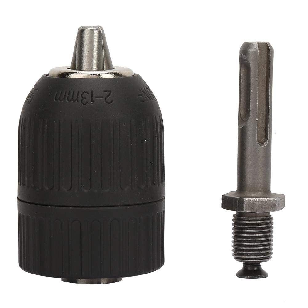 Drill Chuck 2.0-13mm with 1//2-20UNF+SDS Round Shank Adapter Converter Made of Plastic and Steel SDS Keyless Drill Chuck