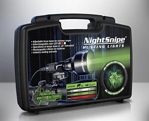 Class-1 NightSnipe NS-550 Adjustable Beam Hunting Light Kit (Red)