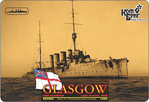 Combrig 1/350 Light Cruiser HMS Glasgow, 1909, resin kit #3545WL CombrigModels