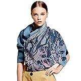 Women's Winter Fashion Luxury Pure Wool Scarves Printing Wraps Long Stole Shawl(185cmx65cm),2#