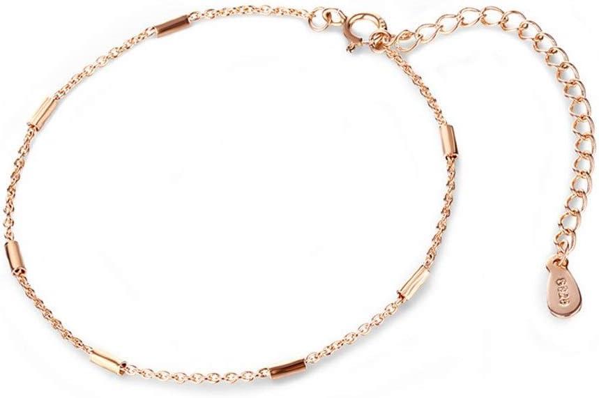 NOBRAND Señoras señoras de Moda de joyería Temperamento indecolorable Personalidad Pulsera Adornos Mano Cilindros geométrica de Las Mujeres Simples Distinguido (Color : Rose Gold Bracelet)
