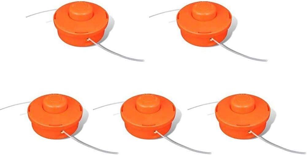 hjgnbiohg Set de 5 Piezas de reemplazo de Nylon para desbrozadora, Cabezales de Corte, Cortadora de cesped, Universal: Amazon.es: Jardín