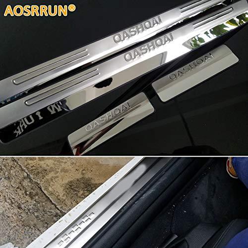 Battitacco in acciaio inox guards For Qashqai 2007-2013 door sill car accessories
